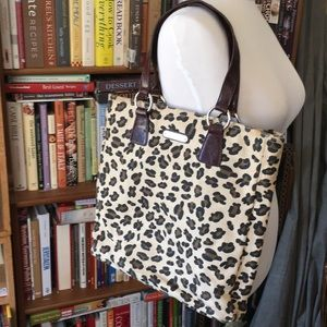 Cynthia Rowley canvas and leather tote
